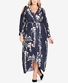 c4ae15ddaf5 City Chic Plus Size Jade Blossom High-Low Dress   Reviews - Women ...