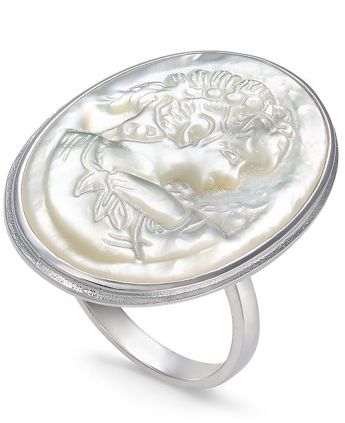 Macy's Mother-of-Pearl Cameo Ring in Sterling Silver