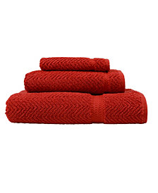 Linum Home Herringbone 3-Pc. Towel Set