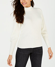 LEYDEN Ribbed Mock-Neck Sweater