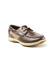 Little and Big Boys Jay Classic Dress Comfort Lace-Up Boat Shoe