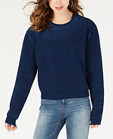 Material Girl Juniors' Denim Sweatshirt, Created for Macy's