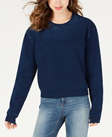 Material Girl Juniors' Denim Sweatshirt, Created for Macy's