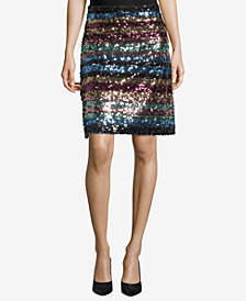 ECI Multicolored Sequined Skirt
