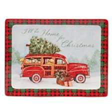 Certified International Home for Christmas Rectangular Platter