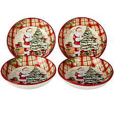 Certified International Holiday Wishes 4-Pc. Soup/Pasta