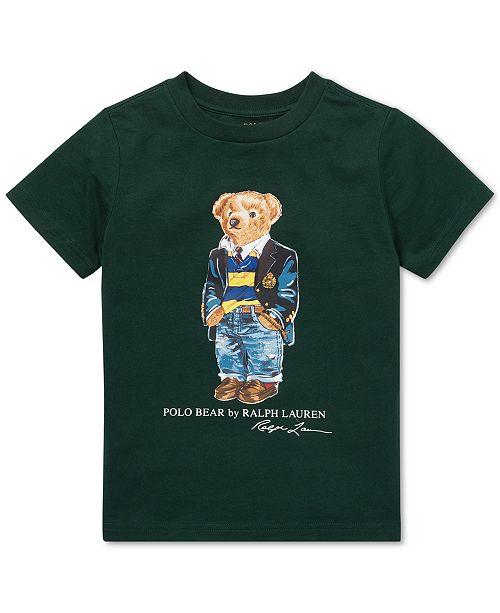 a403af82 Polo Ralph Lauren Little Boys Polo Bear Cotton T-Shirt ...