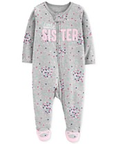 Carter s Baby Girls 1-Pc. Sister Cotton Footed Pajamas 3ac99ed85