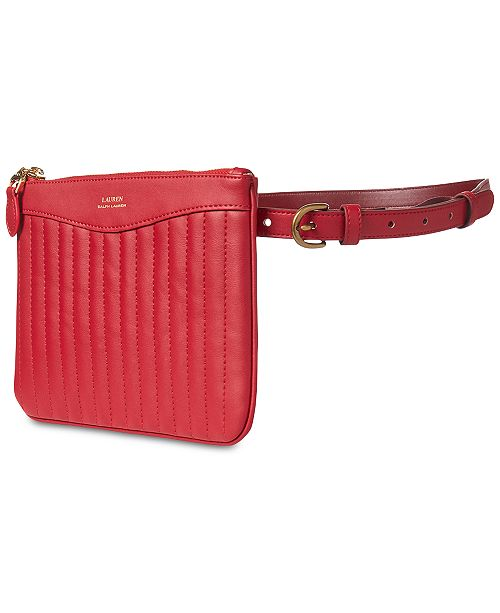 1f603690e62a Lauren Ralph Lauren Quilted Plus-Size Belt Bag - Handbags ...