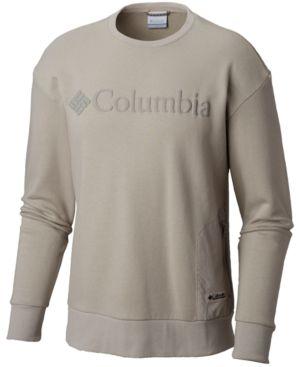 COLUMBIA Men'S Bugasweat Crewneck Sweatshirt, Grey in Flint Grey