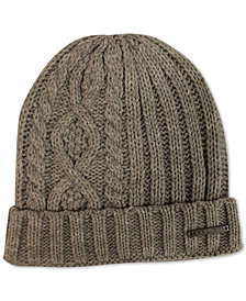 Sean John Men's Diamond Cable Knit Cuff Beanie, Created for Macy's
