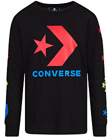 Converse Big Boys Multicolor Chevron Graphic Sweatshirt