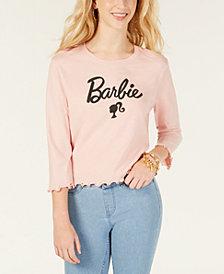 Love Tribe Juniors' Barbie Metallic Graphic T-Shirt