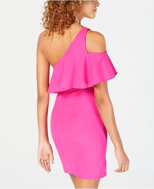 1788b44da04 Dear Moon Juniors  Ruffled Asymmetrical Bodycon Dress   Reviews ...