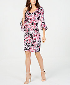 Connected Floral-Print A-Line Dress