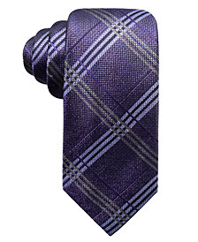 Ryan Seacrest Distinction™ Men's Portofino Plaid Slim Silk Tie, Created for Macy's