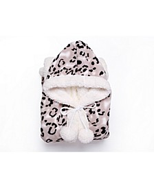 Leopard 51x71 Hooded Snuggle
