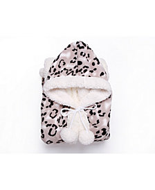 Chic Home Leopard 51x71 Hooded Snuggle
