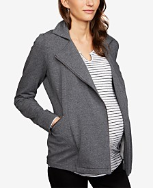 A Pea In The Pod Maternity Zip-Front Jacket