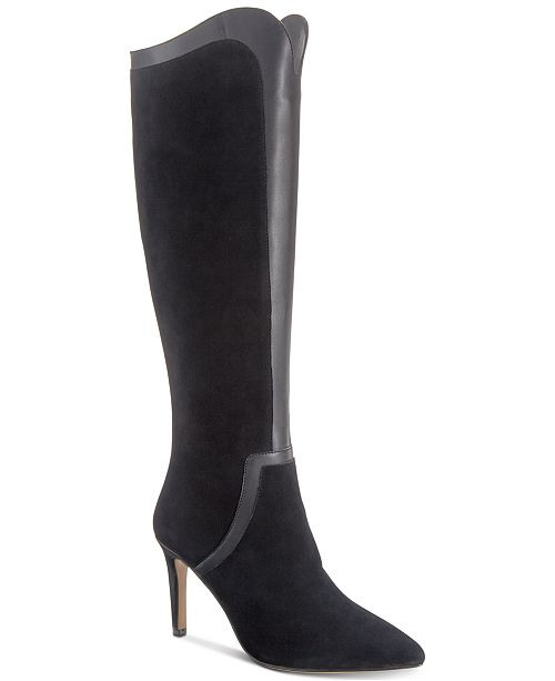 ad0850d636d Adrienne Vittadini Nalani Dress Boots   Reviews - Boots - Shoes - Macy s
