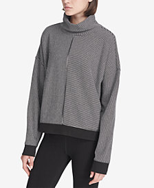 DKNY Sport Turtleneck Stripe Top, Created for Macy's