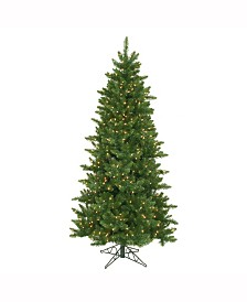 Vickerman 6.5 ft Camdon Fir Slim Artificial Christmas Tree With 550 Clear Lights