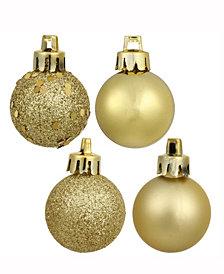 """Vickerman 2.4"""" Luxe Gold 4-Finish Ball Christmas Ornament, 60 Per Box"""