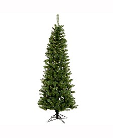 8.5 ft Salem Pencil Pine Artificial Christmas Tree With 450 Clear Lights