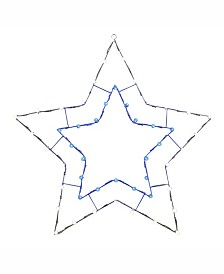 """Vickerman 48"""" C7 Led Blue White 5 Point Star Wire Silhouette"""