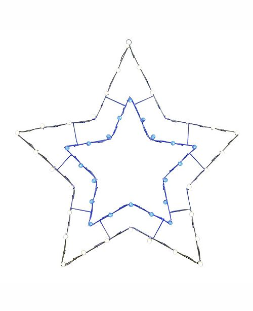 "Vickerman 48"" C7 Led Blue White 5 Point Star Wire Silhouette"