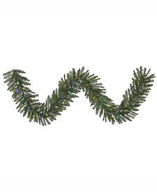 Vickerman 9 ft Durango Spruce Artificial Christmas Garland With 100 Multi-Colored Led Lights
