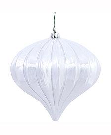 "Vickerman 5.7"" Silver Shiny Onion Christmas Ornament"