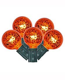 10 Orange Mercury G40 Light On Green Wire, 10' Christmas Light Strand