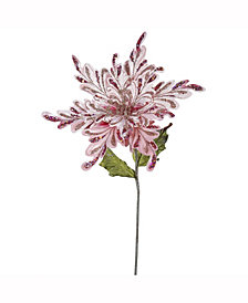 "Vickerman 15"" Pink Velvet Poinsettia Artificial Christmas Pick, 3 Per Bag"