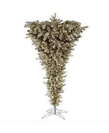 5.5 ft Champagne Upside Down Artificial Christmas Tree Unlit