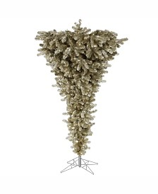 Vickerman 5.5 ft Champagne Upside Down Artificial Christmas Tree Unlit