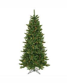 Vickerman 6.5 ft Camdon Fir Slim Artificial Christmas Tree With 550 Multi Led Lights