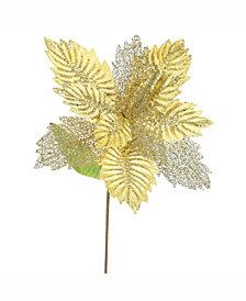 "Vickerman 22"" Gold Poinsettia Artificial Christmas Flower"