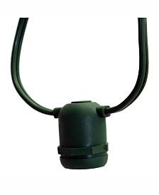 Vickerman 50 Medium Base E26 Socket Set Spt2 16Ga Green Wire