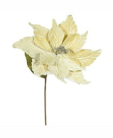 """22"""" Champagne Poinsettia Artificial Christmas Flower"""