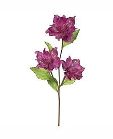 "Vickerman 33"" Mauve Magnolia Artificial Christmas Flower"