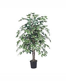 Vickerman 4' Artificial Variegated Ficus Bush