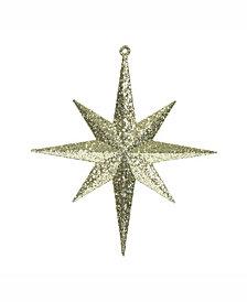 "Vickerman 8"" Gold Iridescent Glitter Bethlehem Star Christmas Ornament, 4 Per Box"