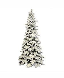 5 ft Flocked Kodiak Spruce Artificial Christmas Tree Unlit