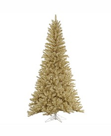5.5 ft White-Gold Tinsel Artificial Christmas Tree Unlit