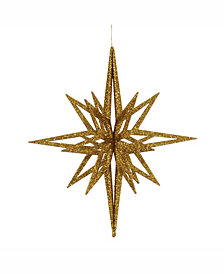 "Vickerman 16"" Gold Iridescent Star Christmas Ornament"