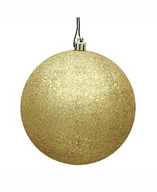 "6"" Gold Sequin Ball Christmas Ornament, 4 Per Bag"