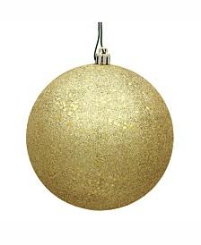 """Vickerman 6"""" Gold Sequin Ball Christmas Ornament, 4 Per Bag"""