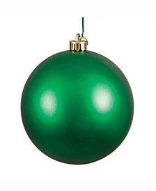 "Vickerman 8"" Green Matte Ball Christmas Ornament"
