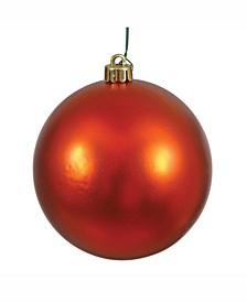 "8"" Burnish Orange Matte Ball Christmas Ornament"